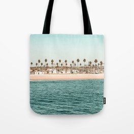 Vintage Newport Beach Print {1 of 4} | Photography Ocean Palm Trees Teal Tropical Summer Sky Tote Bag