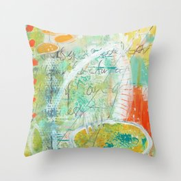 abstract 3 the great loneliness Throw Pillow