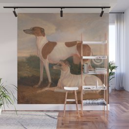 oil paintings of greyhounds Wall Mural