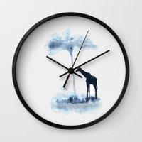 wander Wall Clocks featuring Wander by Tammy Kushnir