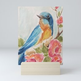 Bluebird of Happiness  Mini Art Print