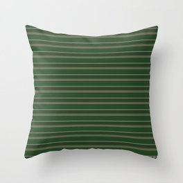 Pink Roses in Anzures 1 Stripes 2H Throw Pillow