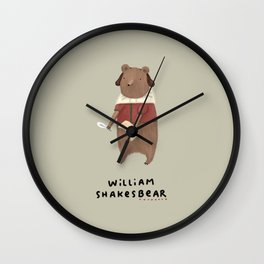 William Shakesbear Wall Clock
