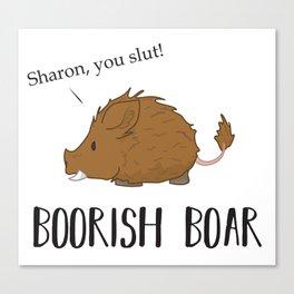 The Boorish Boar Canvas Print