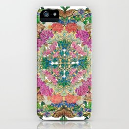 Mr Lincoln - Rose, Passion Flower and Butterfly Mandala iPhone Case