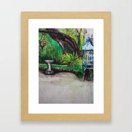 Birdcage in the California garden Framed Art Print