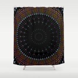 Glowing Mandala Art Shower Curtain