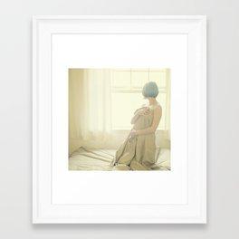 sunday in bed Framed Art Print