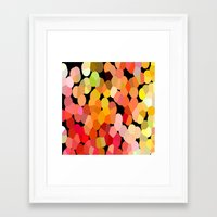 confetti Framed Art Prints featuring Confetti by Rosie Brown