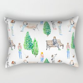girls in the park pattern Rectangular Pillow