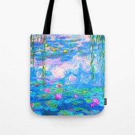 Monet Water Lilies - Pastel Fluro Tote Bag