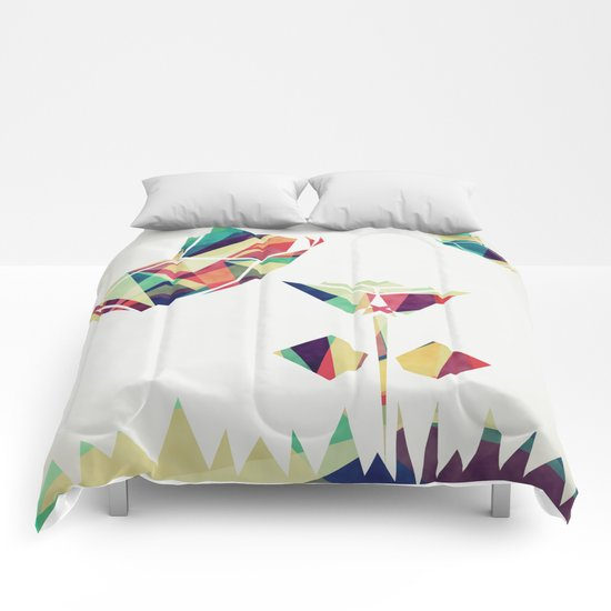 Spring Illustration Comforters