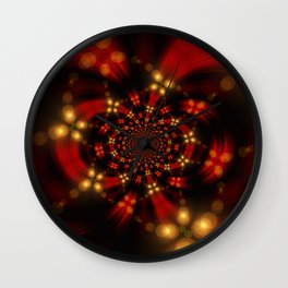 Christmas-Fractal Wall Clock