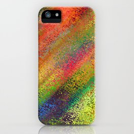 Abstract crayon background iPhone Case
