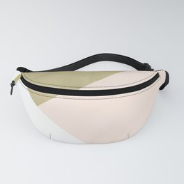 Gold meets Blush & White Geometric #1 #minimal #decor #art #society6 Fanny Pack