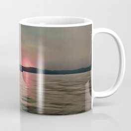 Sunset Shores In Pink And Grey Coffee Mug