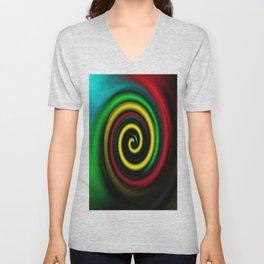 Swirling colours. Unisex V-Neck