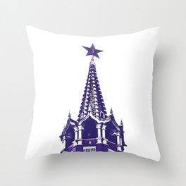 Kremlin Chimes-violet Throw Pillow