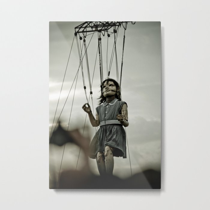 Girl Giant Metal Print