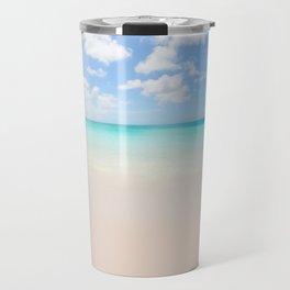 Beach vacation background Travel Mug