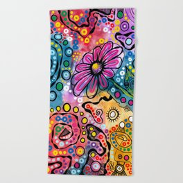 """Tie-Dye Wonderland"" Beach Towel"