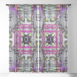 Greek Yantra Sheer Curtain