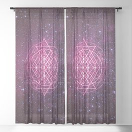 Sacred Geometry Sheer Curtain