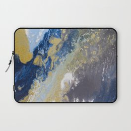 Blue, grey, and gold. Laptop Sleeve
