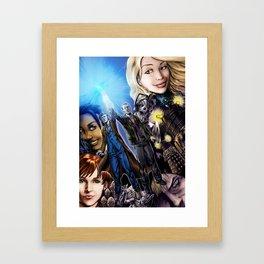 The last blue sonic flashes Framed Art Print