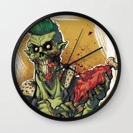 Yummy Zombie Wall Clock