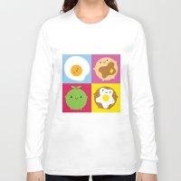 kawaii Long Sleeve T-shirts featuring Kawaii Breakfast by Marceline Smith