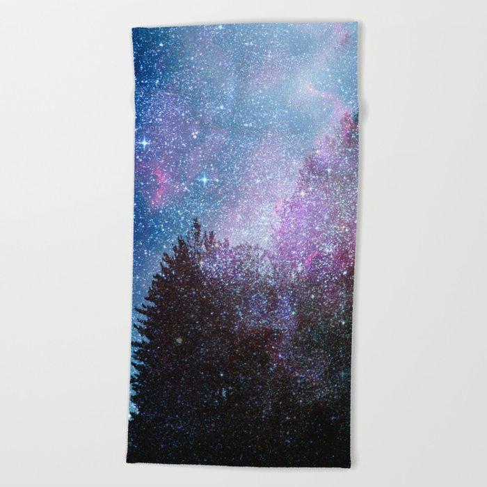 Stars forest..... Cosmic. Beach Towel