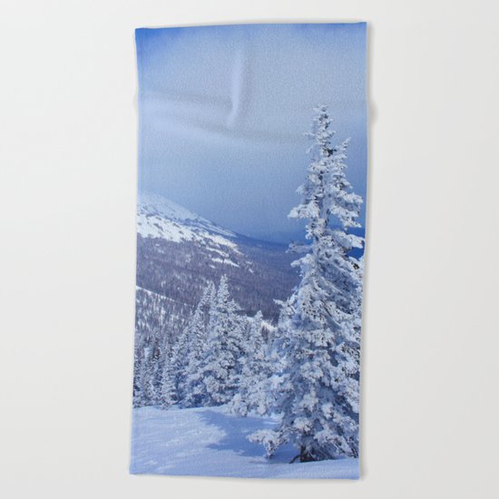 Winter day 27 Beach Towel