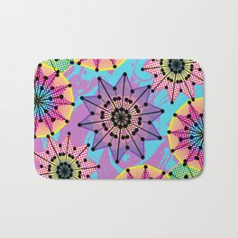 Vibrant Abstract Floral Pattern Bath Mat