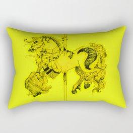Lydia's Carousel Horse Rectangular Pillow