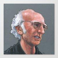 larry david Canvas Prints featuring Larry David by Micah Krock