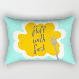 Fluff With Fork Rectangular Pillow