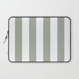 Desert Sage Grey Green Circus Tent Stripe Laptop Sleeve