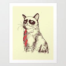 OH NO! Monday Again! Art Print