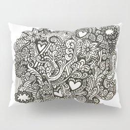Baesic Hearts & Cloud Doodle Pillow Sham