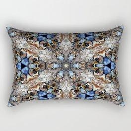 River Birch bark with blue sky kaleidoscope Rectangular Pillow