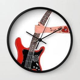 Rock and tattoos Wall Clock