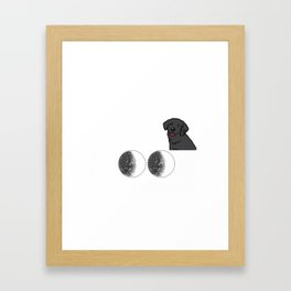 I Love My Lab To The Moon And Back Framed Art Print