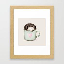 Hedgehog in a Mug Framed Art Print
