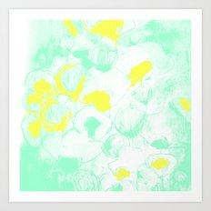 Green & Yellows Art Print