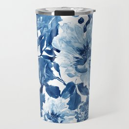 Cobalt Blue Pattern Travel Mug