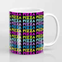 pizza Mugs featuring PIZZA  by Silvio Ledbetter