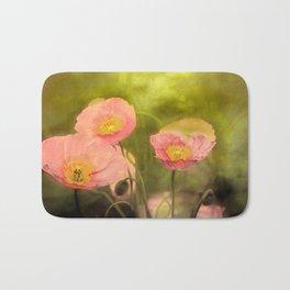 Pale peach poppy Bath Mat