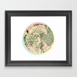 Shape Mesh Framed Art Print