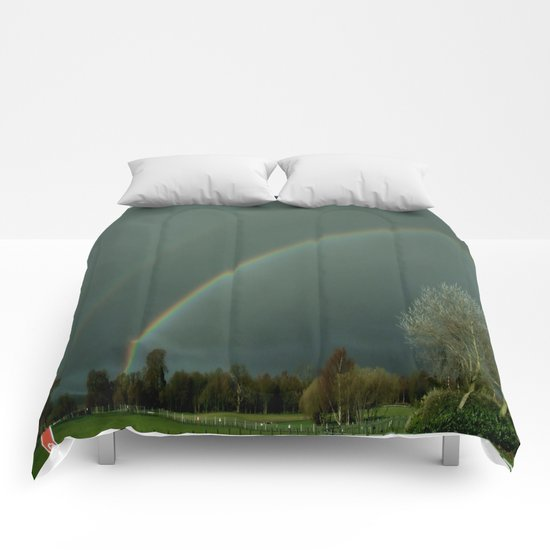 A Colorful Bow for the Rain . . .  Comforters
